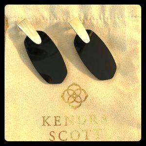 Kendra Scott Aragon Drop Earrings in Black Glass